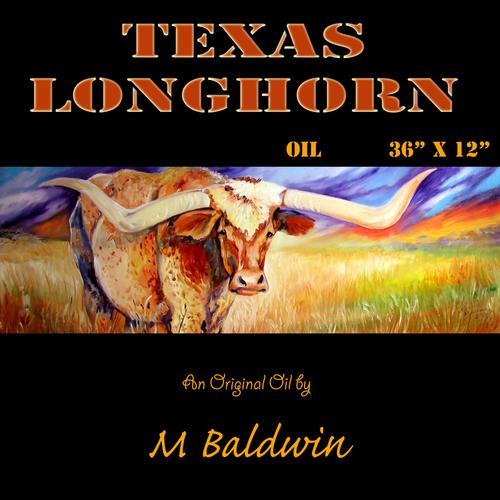 TEXAS LONGHORN by M BALDWIN (large view)