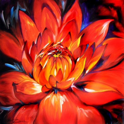 RED DAHLIA by M BALDWIN (large view)