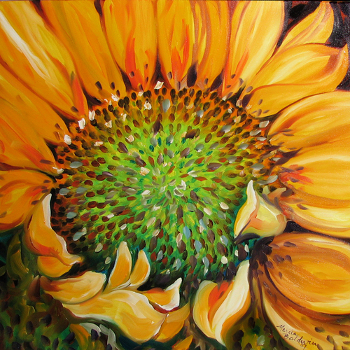 SUNFLOWER DAWNING (large view)