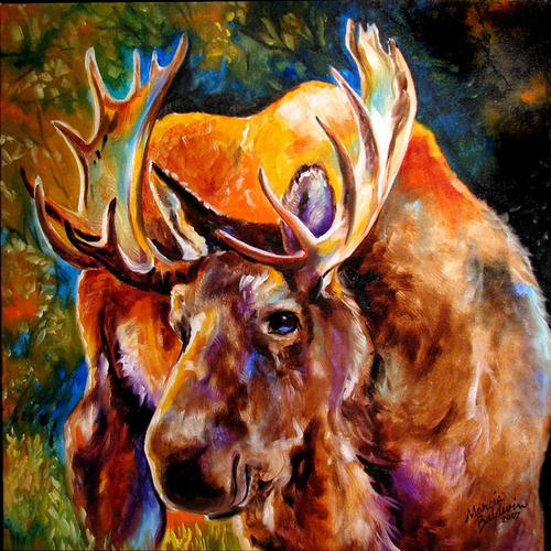 Painting--Oil-WildlifeMOOSE at DAYBREAK