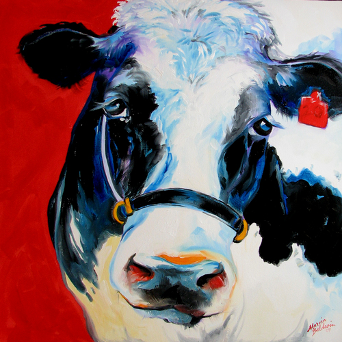 Painting--Oil-AnimalsMOO MOO