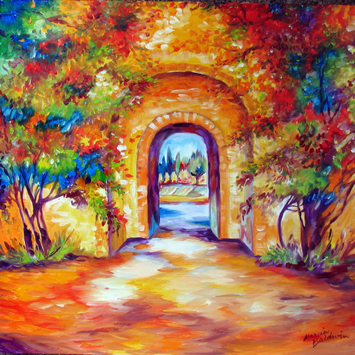 TUSCAN GARDEN GATE by M BALDWIN (large view)