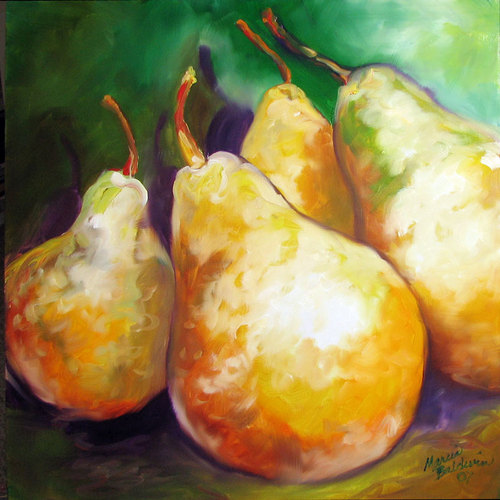 FOUR PEARS by M BALDWIN (large view)