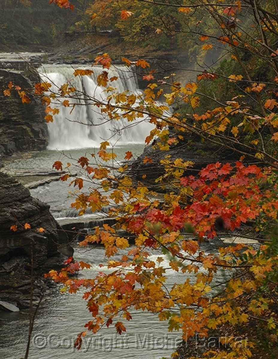 Autumn Waterfall, Letchworth State Park (large view)