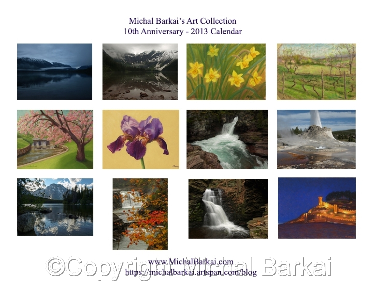 Michal Barkai's Art Collection - 10th Anniversary 2013 Calendar (large view)