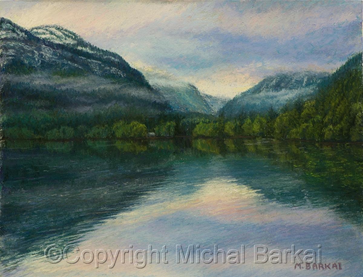 Dawn, Lake Mcdonald (large view)