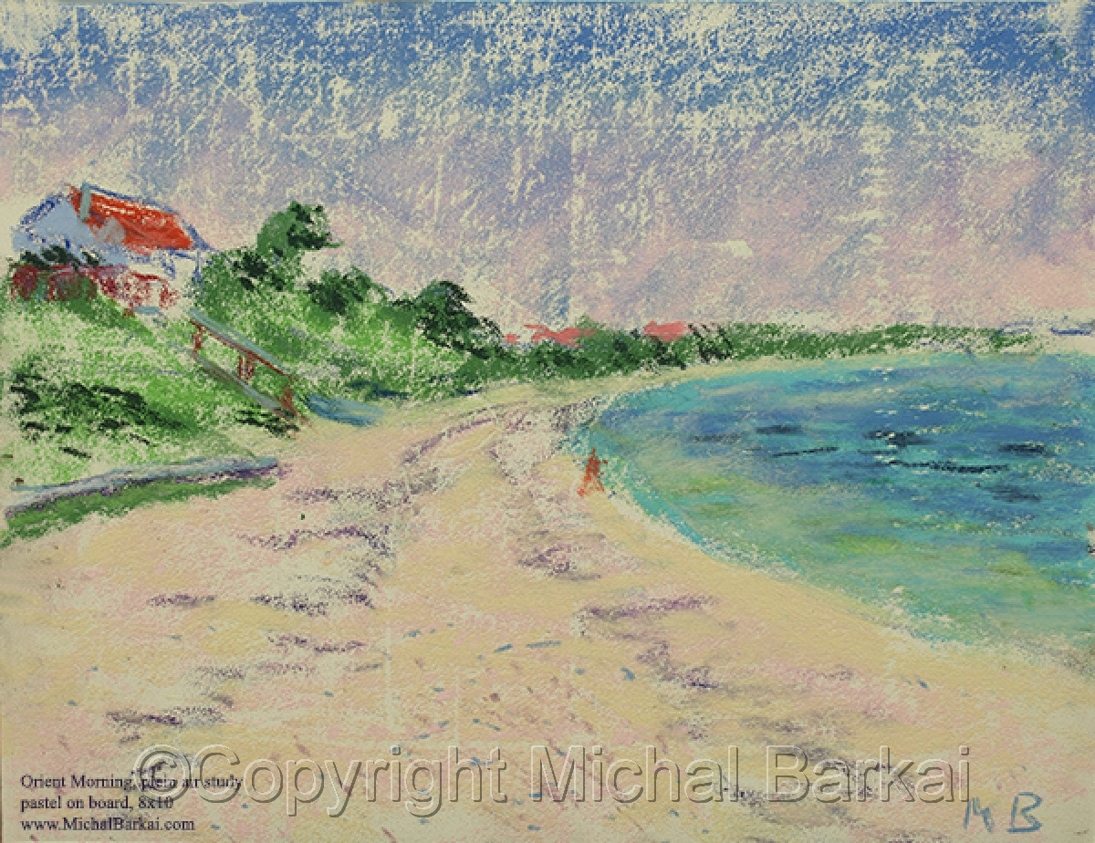 """Orient Morning"", plein air study (large view)"