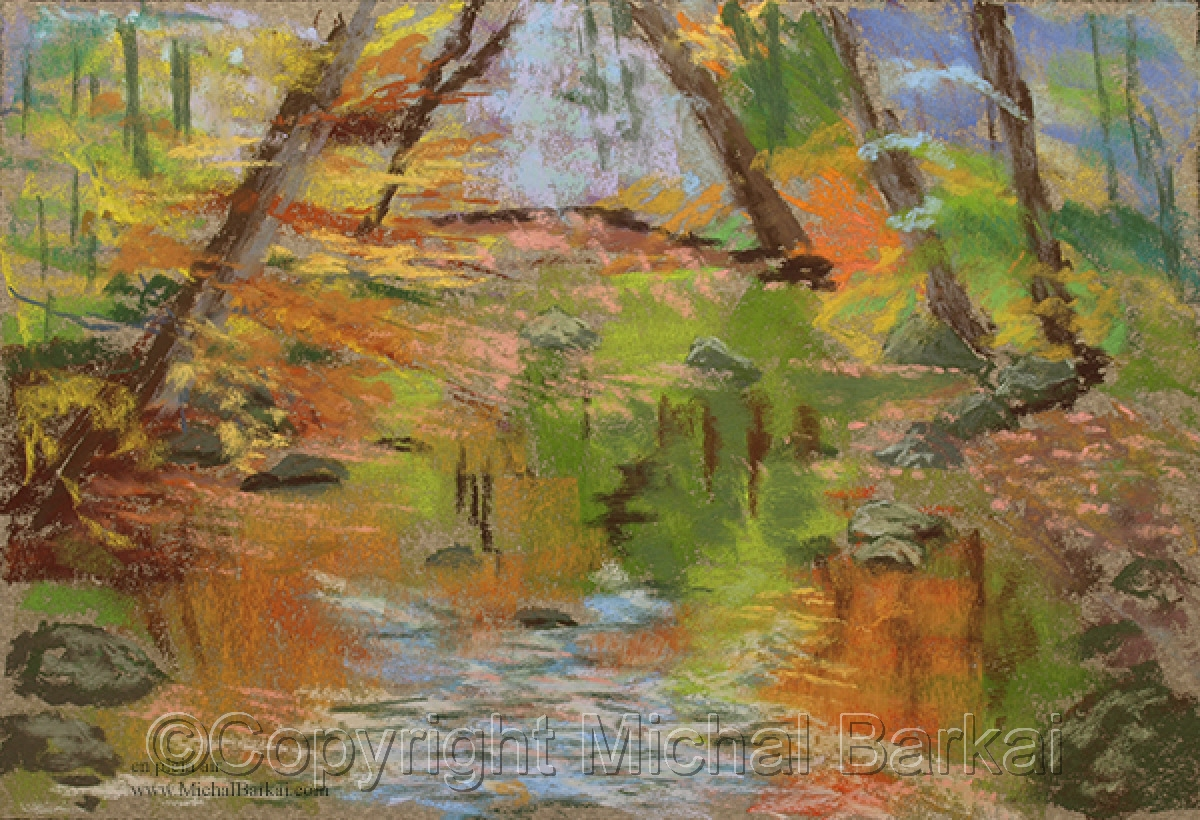 Autumn Morning by the Rahway (large view)