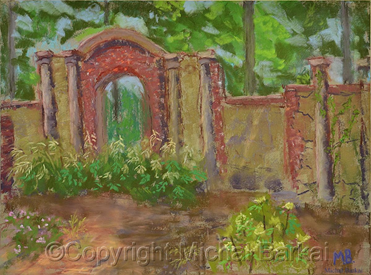 Garden Wall, Greenwood Gardens (large view)