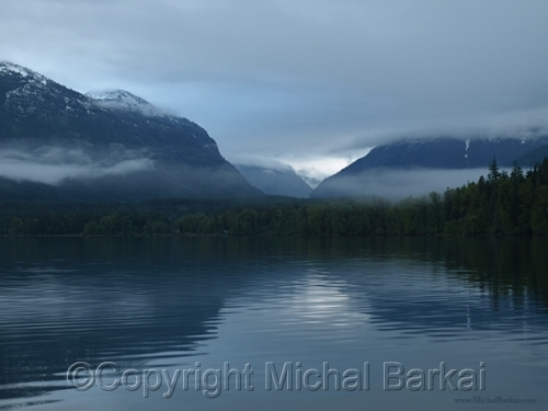 Misty Dawn, Lake McDonald by Michal Barkai Art