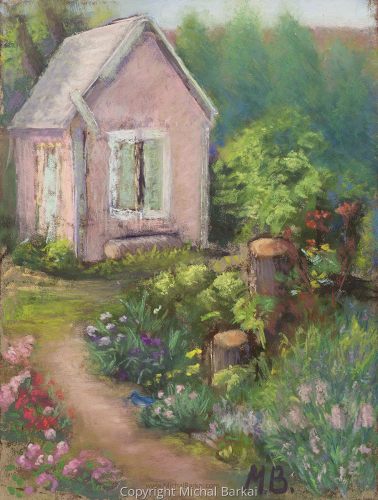 Garden Shed and Stumps