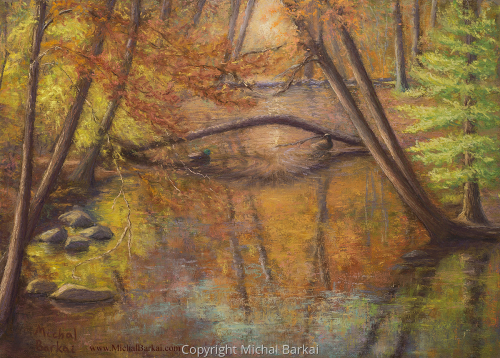 Fall Morning on the Rahway by Michal Barkai Art