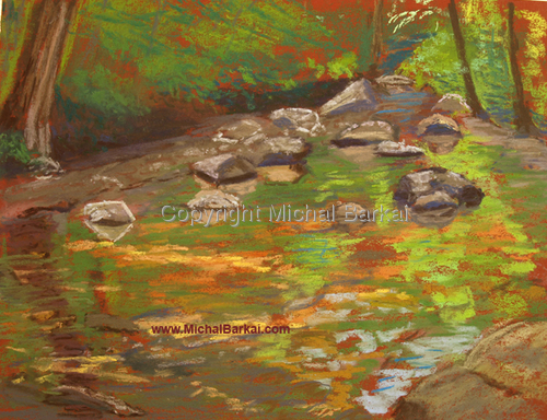 Summer Morning, Rahway River (large view)