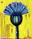 Painting--Acrylic-BotanicalBlue Thistle II