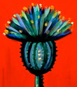 Painting--Acrylic-BotanicalBlue Thistle III