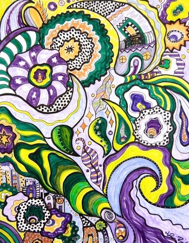 Illustration-Flowing Forest