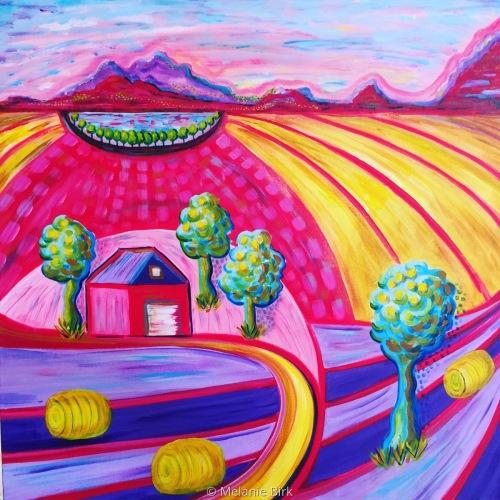Fauvist Farm by Melanie Birk