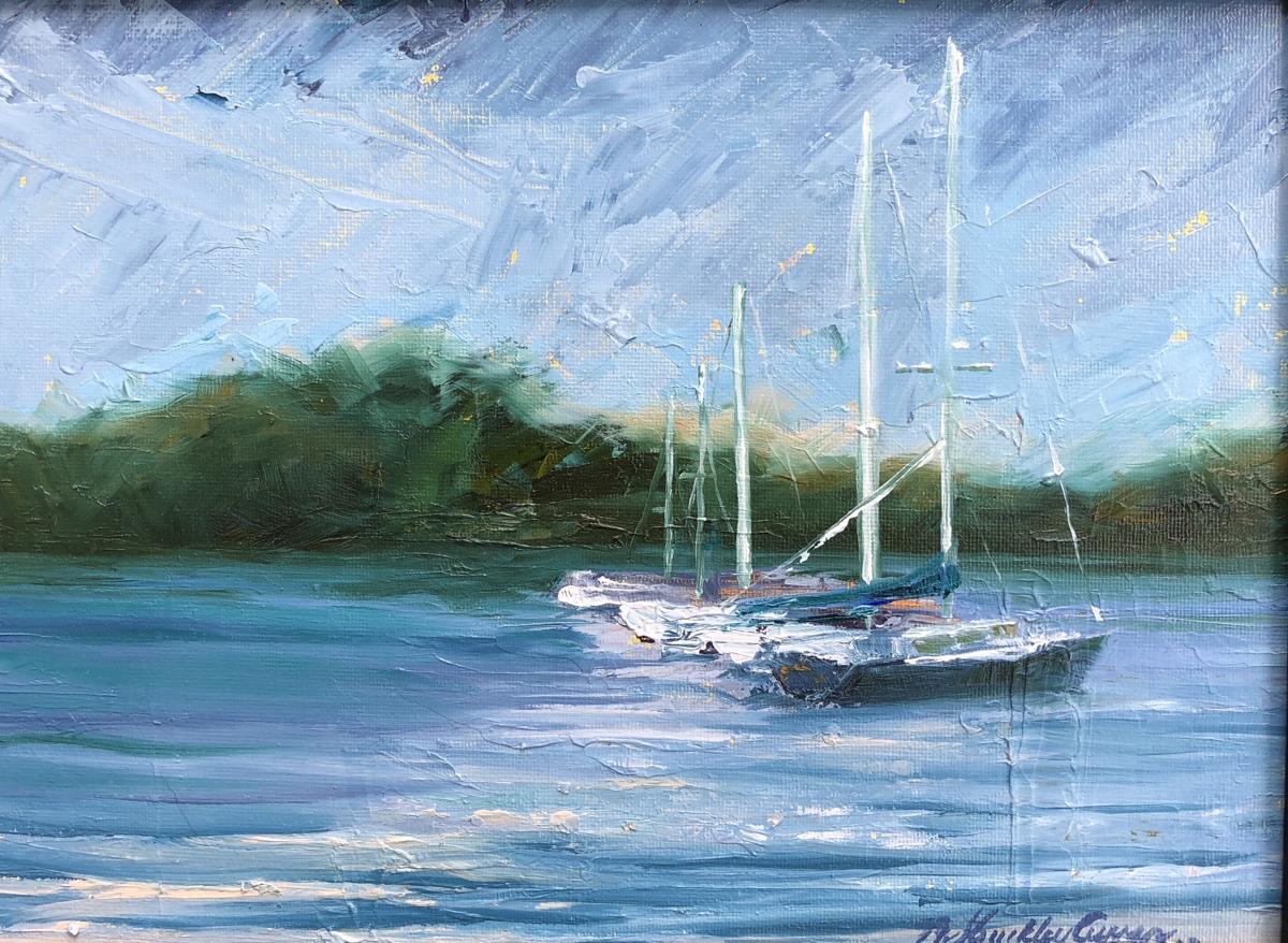 Harbor Boats en Plein Air (large view)