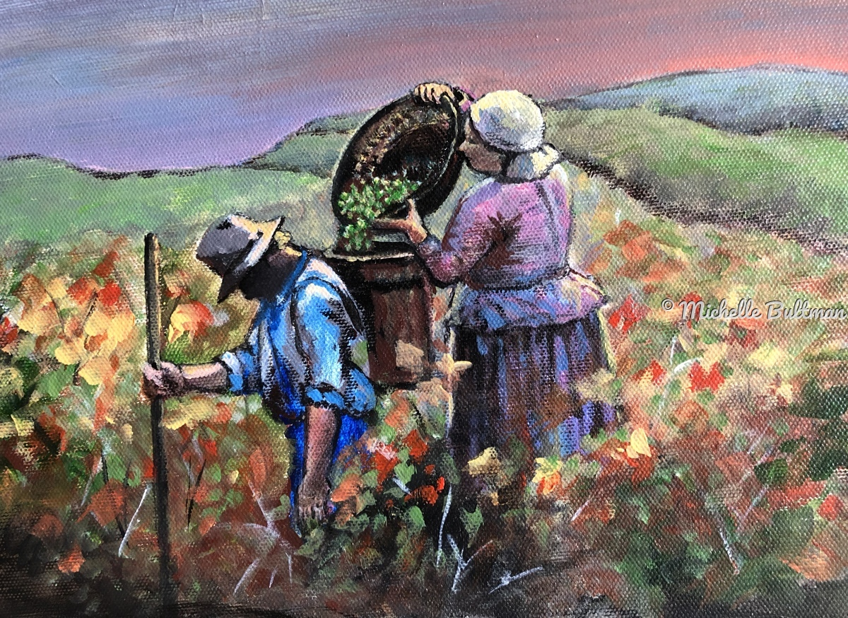Harvesting Grapes (large view)