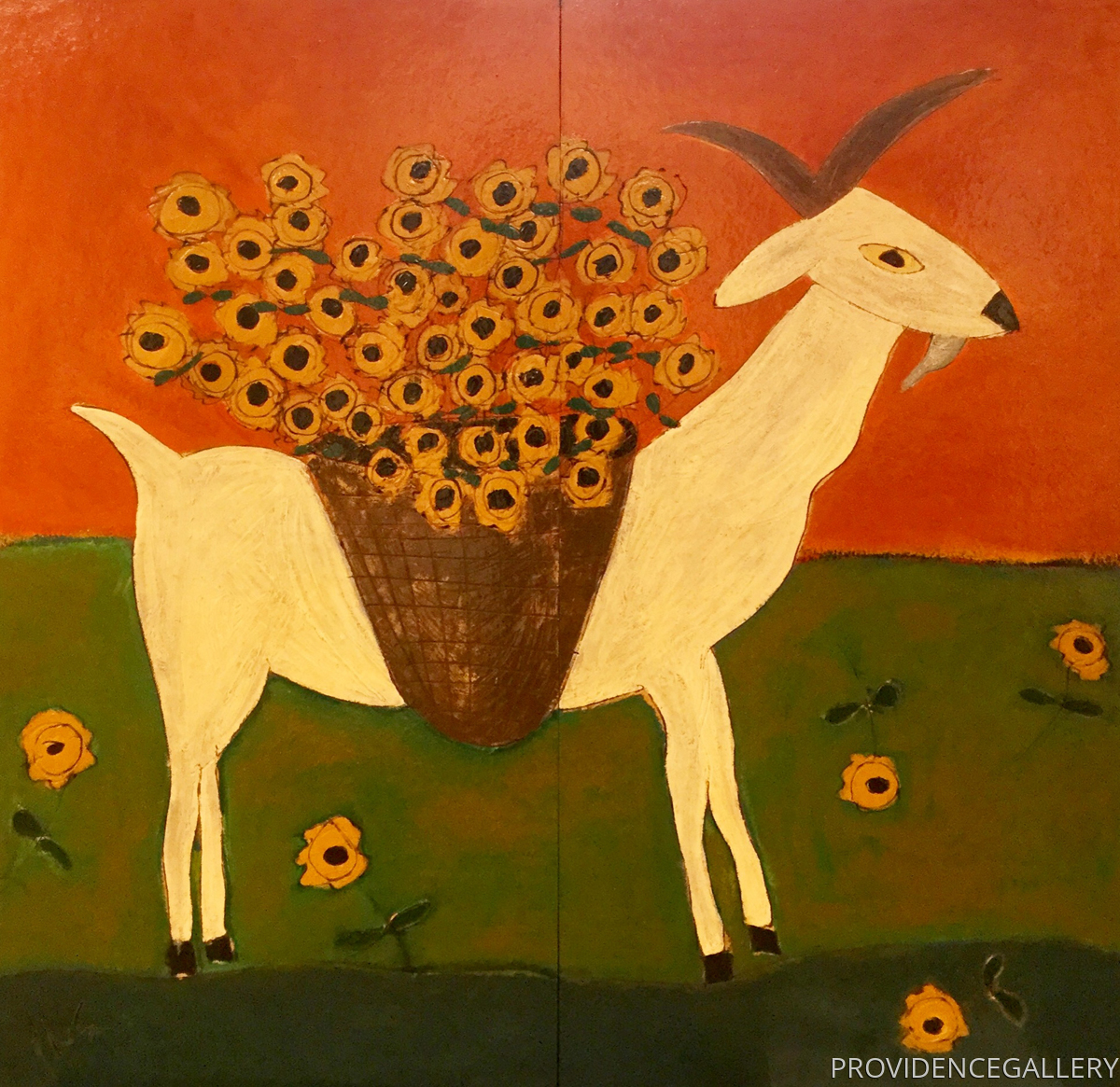 Goat with a Flower Basket (large view)