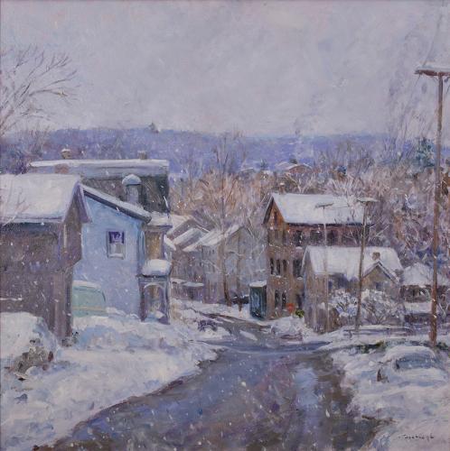 Swan Street in Snow by Myles Cavanaugh