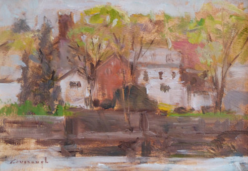 New Hope from Lambertville by Myles Cavanaugh