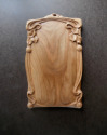"""Cherry Nouveau"" Hand Carved Cutting Board/Wall Art (thumbnail)"