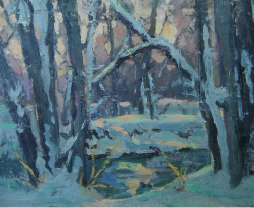 """ Winter Stream"" (large view)"