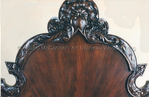 """Carved Mohogany Headboard"" (large view)"