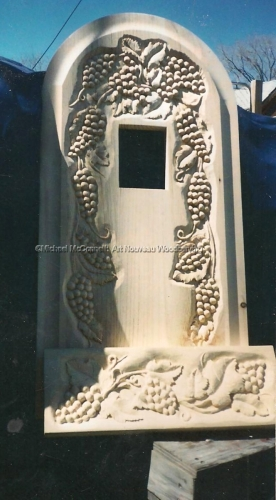 Grape Leaf Carving (large view)