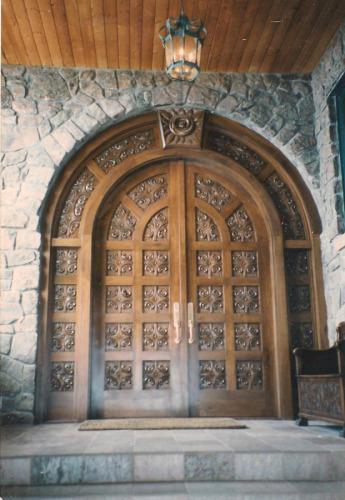 Wood--Carved-FurnitureHand Carved Entry Door