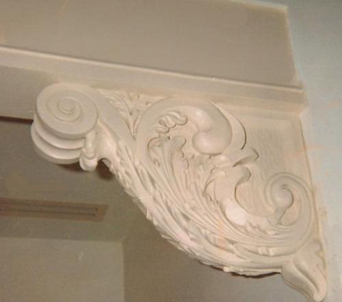 Wood Carved Corner Bracket, Michael McConnell Wood Carvings, Michael McConnell Wood Carver (large view)
