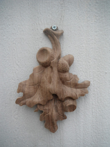 Carved Oak leaf/Acorn Christmas Ornament