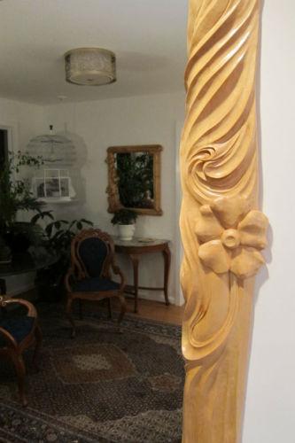 Wood--Carved-DecorativeArt Nouveau Carved Entrance Surround Detail