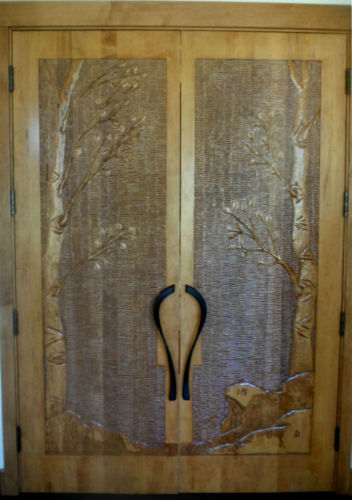 Carved Aspen Door (large view)