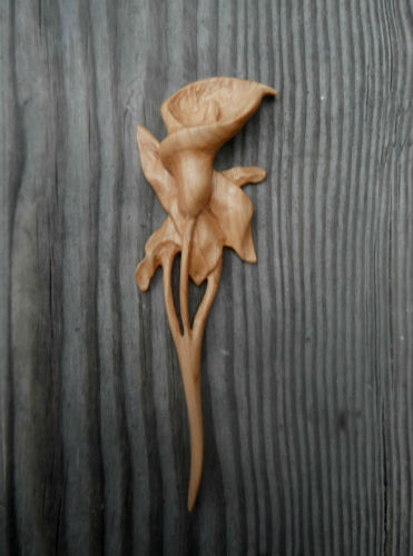 Hand Carved Hair Stick (large view)