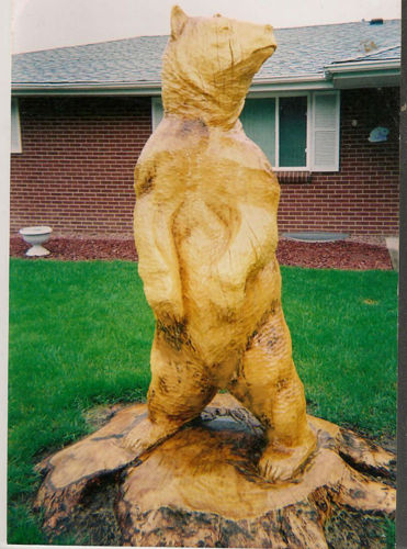 Grizzly Bear Tree Sculpture