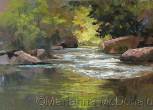 Clear Creek Downstream2 by Marianna McDonald