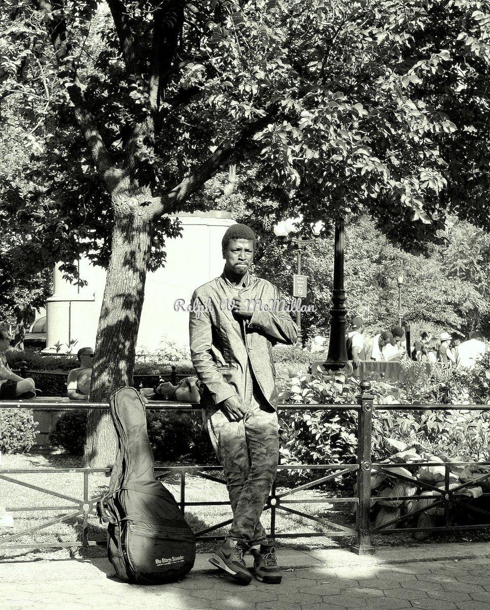 Sad Musician, Union Square Park N.Y.C. (large view)