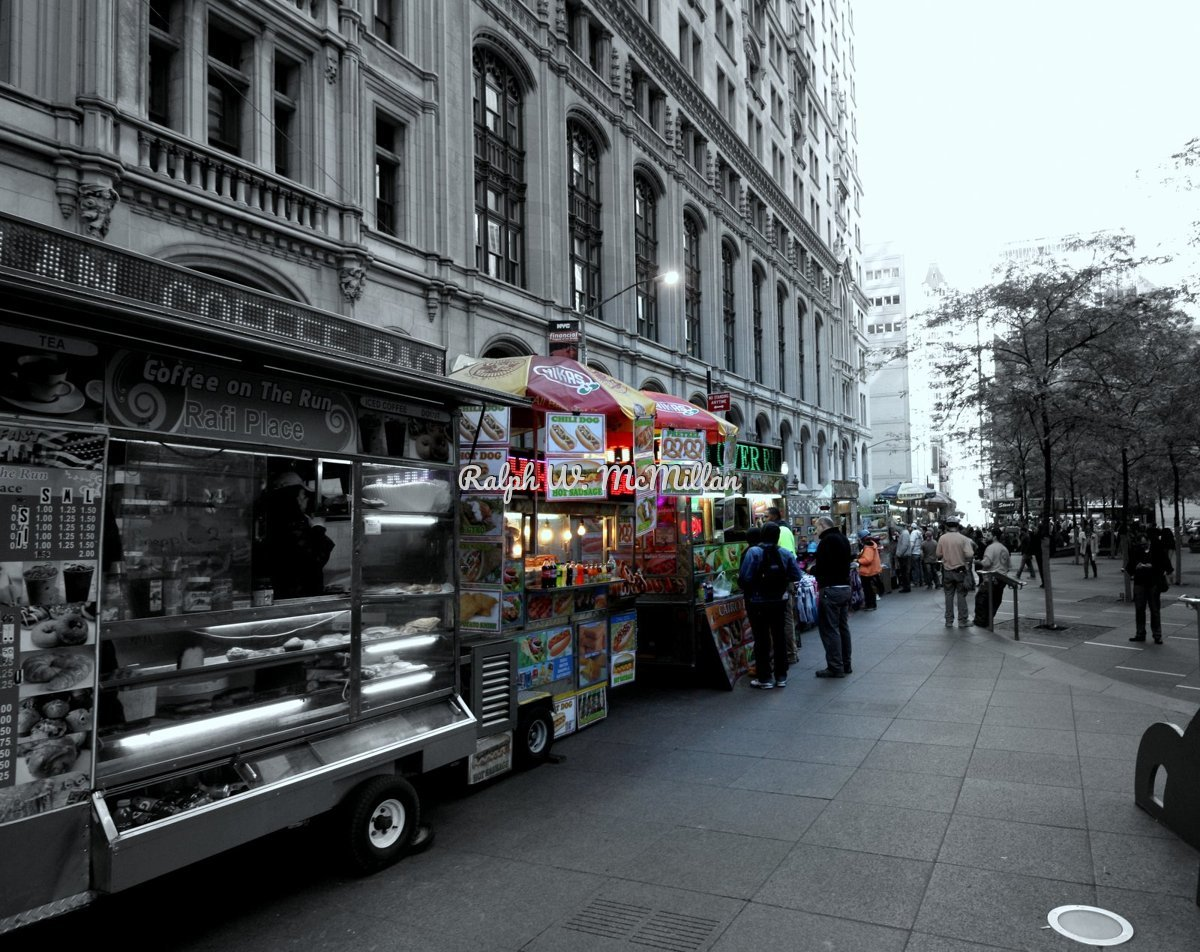 Food Vendors, On Wall Street (large view)
