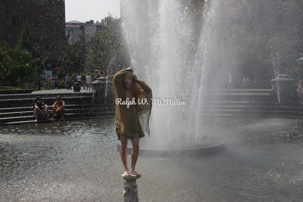Mime - At Washington Square Park, Greenwich Village (large view)