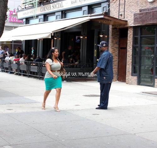 Corner Social in Harlem by Ralph W. McMillan