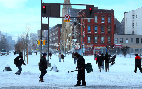 Blizzard of 2012 in Harlem