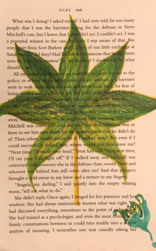 Leaf on page by Mitzi Art and Soul