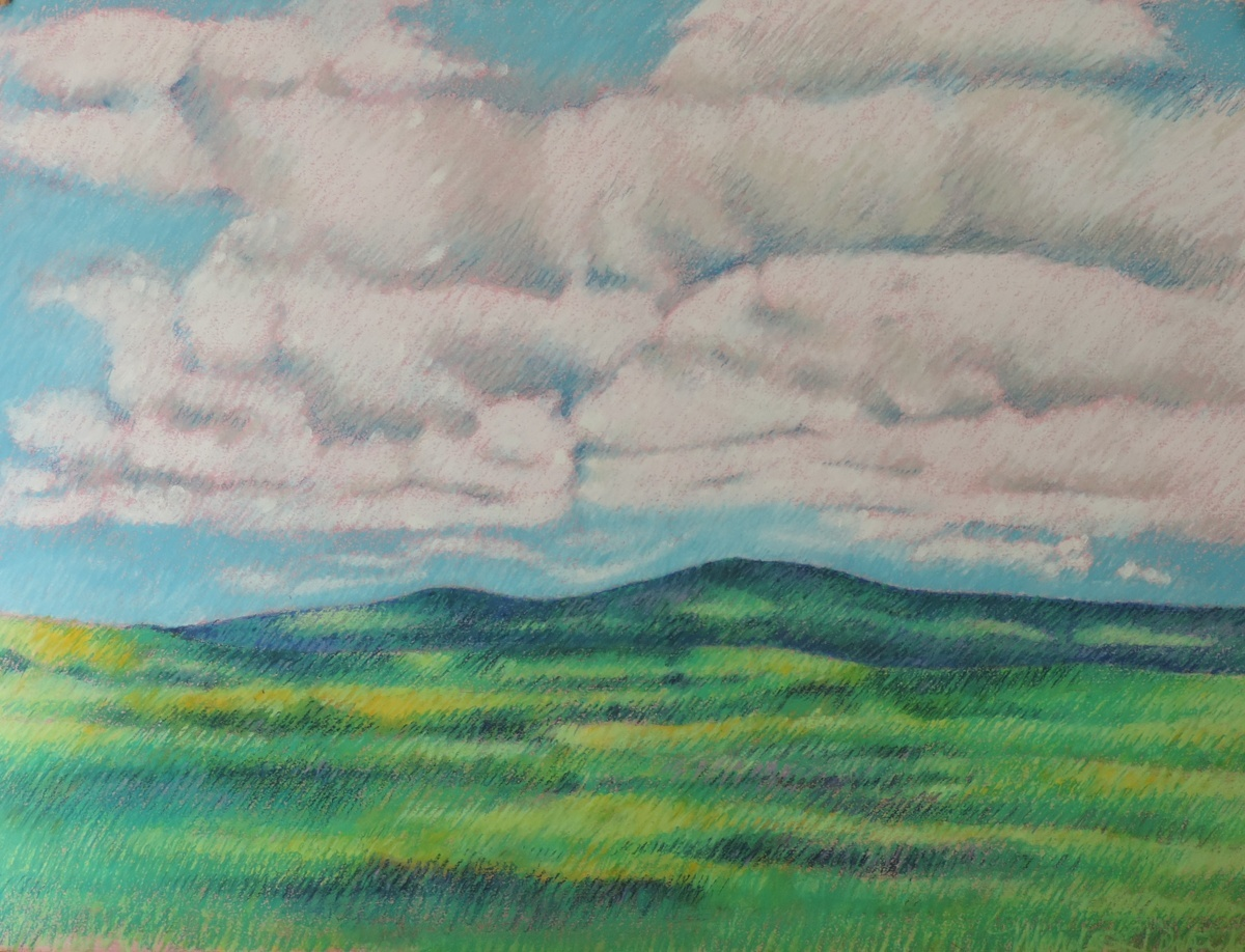 Clouds over Hilly Countryside at Ring of Kerry (Cat. No. 524) (large view)
