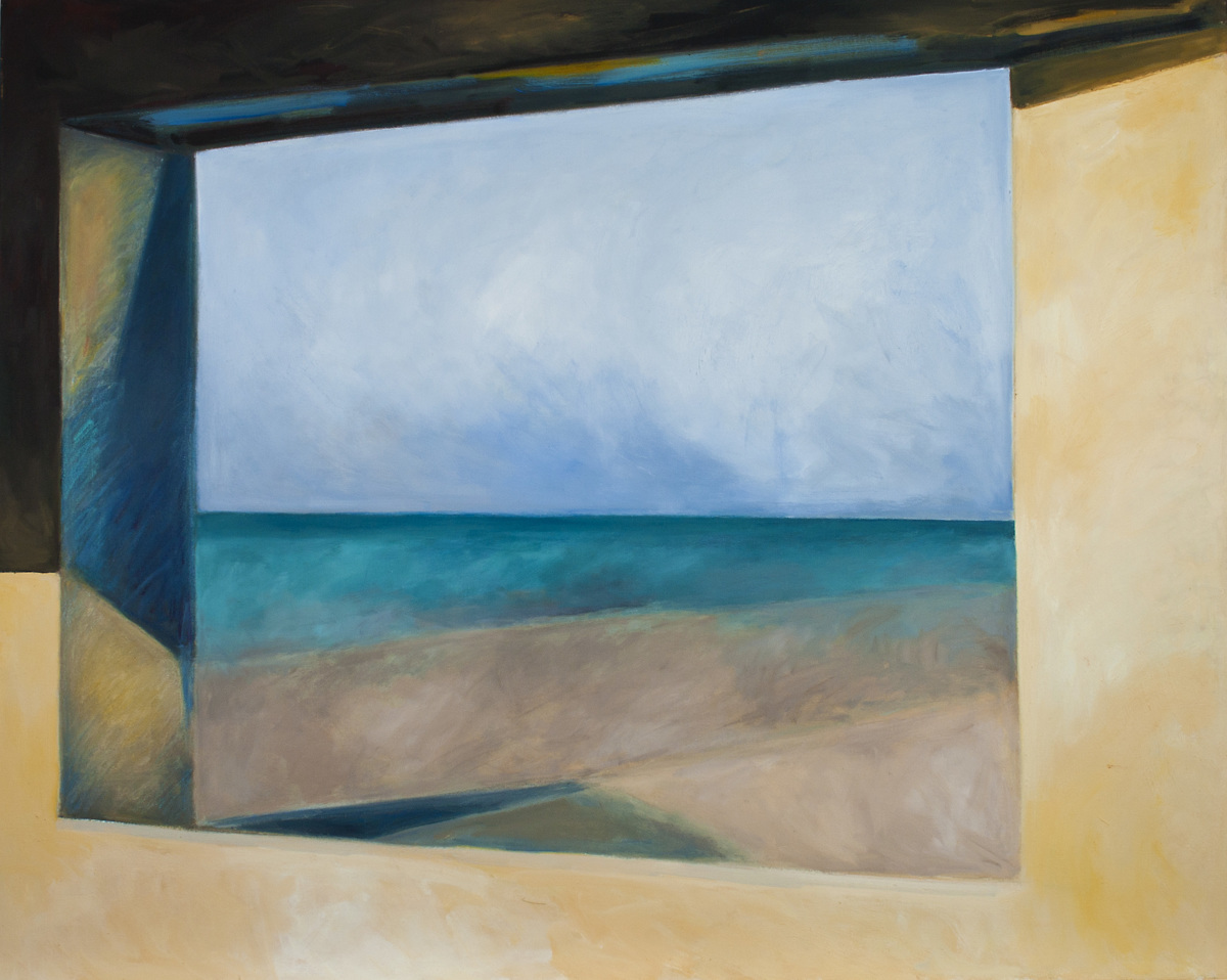 Ocean, Land, Sky through Blockhouse Window in Normandy (Cat. No. 330) (large view)