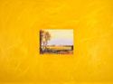 Representational oil painting on canvas, interpretation of a contemporary landscape painting by John Constable, glued to a painted canvas (thumbnail)