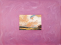 Representational Oil painting on canvas of a contemporary landscape painting by John Constable, glued to a painted canvas (thumbnail)