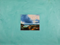 Contemporary landscape painting representational of a John Constable painting, oil painting on canvas glued to a painted canvas (thumbnail)