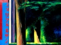 Representational oil painting on canvas of a sign in Ueno Park in Tokyo. (thumbnail)